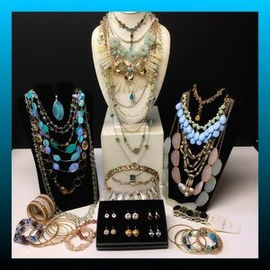 Vintage to now estate jewelry lot crystal
